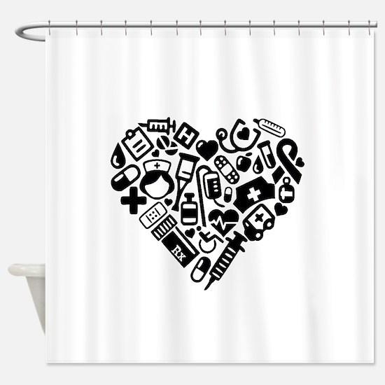 Nurse Heart Shower Curtain