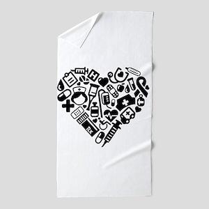 Nurse Heart Beach Towel