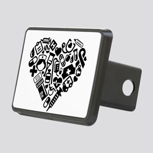 Nurse Heart Rectangular Hitch Cover