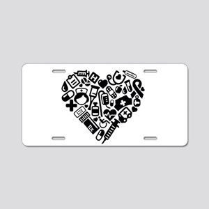 Nurse Heart Aluminum License Plate