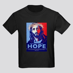 Jesus Our greatest Hope Kids Dark T-Shirt