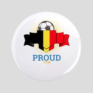 """Football Belgians Belgium Soccer Team 3.5"""" Button"""