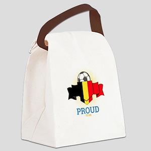 Football Belgians Belgium Soccer Canvas Lunch Bag