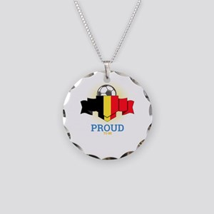 Football Belgians Belgium So Necklace Circle Charm