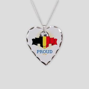 Football Belgians Belgium Soc Necklace Heart Charm
