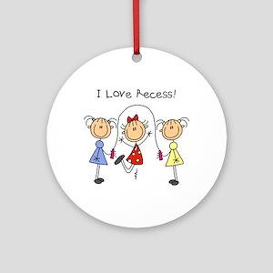 I Love Recess Ornament (Round)