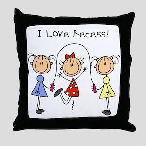 I Love Recess Throw Pillow