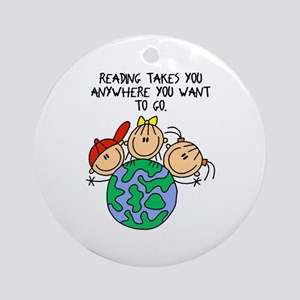 Reading Can Take You Ornament (Round)