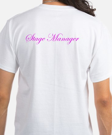 Stage Manager Call Shots White T-Shirt