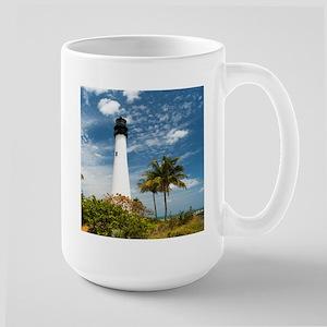 Cape Florida Lighthouse Large Mug