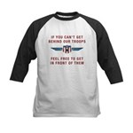 Get Behind Our Troops Kids Baseball Jersey
