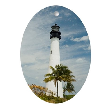 Cape Florida Lighthouse Oval Ornament