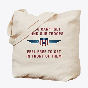 Get Behind Our Troops Tote Bag
