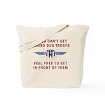 Get Behind Our Troops Tote Bag