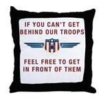 Get Behind Our Troops Throw Pillow