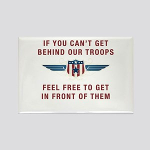 Get Behind Our Troops Rectangle Magnet