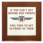 Get Behind Our Troops Framed Tile