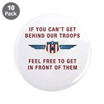 """Get Behind Our Troops 3.5"""" Button (10 pack)"""