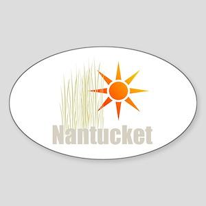 Nantucket Grass Oval Sticker