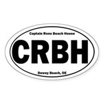 Captain Rons Oval Sticker (10 pk)