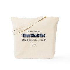 Thou Shalt Not Tote Bag