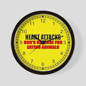 Heart Attacks Wall Clock