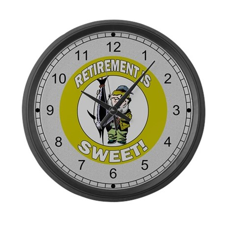 Retirement Gifts Large Wall Clock