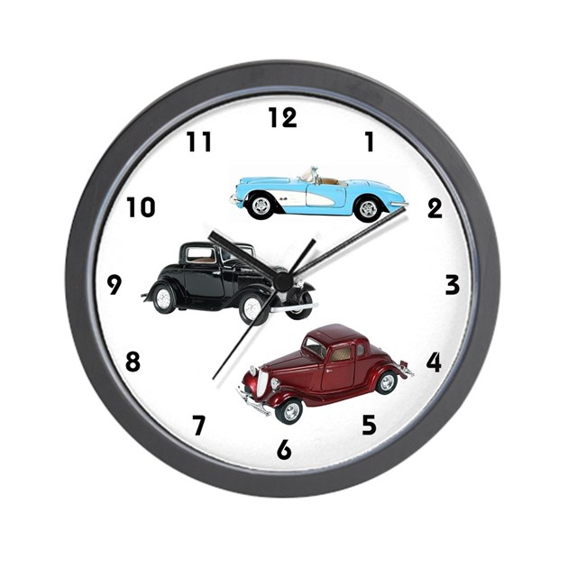 Vintage Cars Wall Clock by sagart