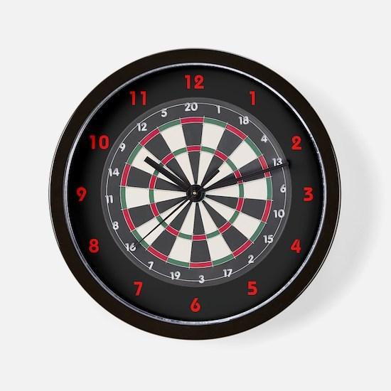 Dart Board Game Wall Clock