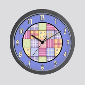 Patchwork Quilt Wall Clock