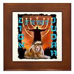 Lion of Judah 5 Framed Tile