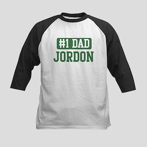 Number 1 Dad - Jordon Kids Baseball Jersey