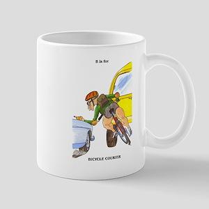 funny bicycle courier gift me Mug