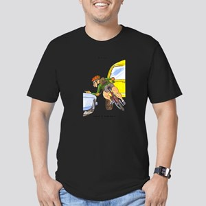 funny bicycle courier gift me Men's Fitted T-Shirt