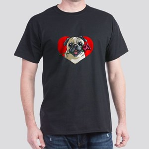 Pug Heart With Flower T-Shirt