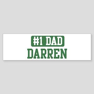 Number 1 Dad - Darren Bumper Sticker