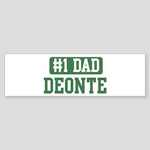 Number 1 Dad - Deonte Bumper Sticker