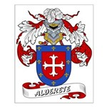 Alderete Coat of Arms Small Poster