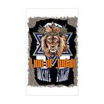 Lion of Judah 2 Rectangle Sticker