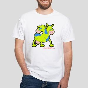 "Cow ""Twice the Moo"" White T-Shirt"