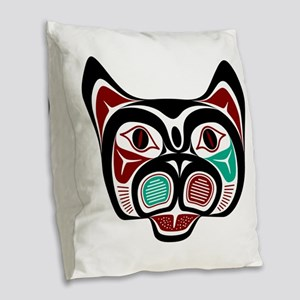 Northwest Pacific coast Haida Kitty Burlap Throw P