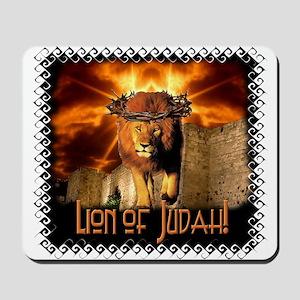 Lion of Judah 4 Mousepad