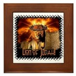 Lion of Judah 4 Framed Tile