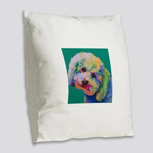 Puffy Burlap Throw Pillow