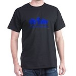 Black Blue alien diversity T-Shirt