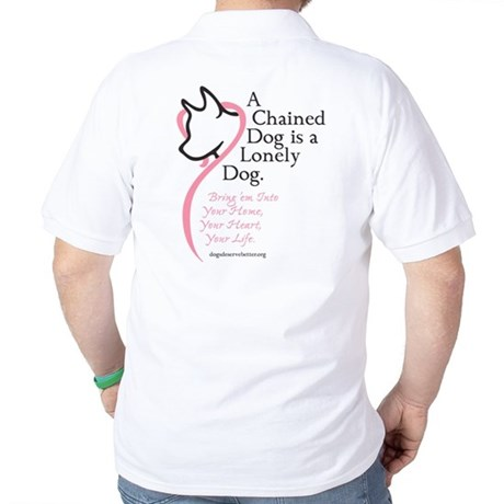 2006 Chained Dog Valentine Ca Golf Shirt