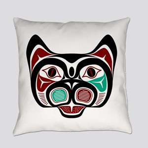 Northwest Pacific coast Haida Kitty Everyday Pillo