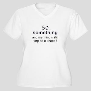 50 Something...tarp Women's Plus Size V-Neck T-Shi