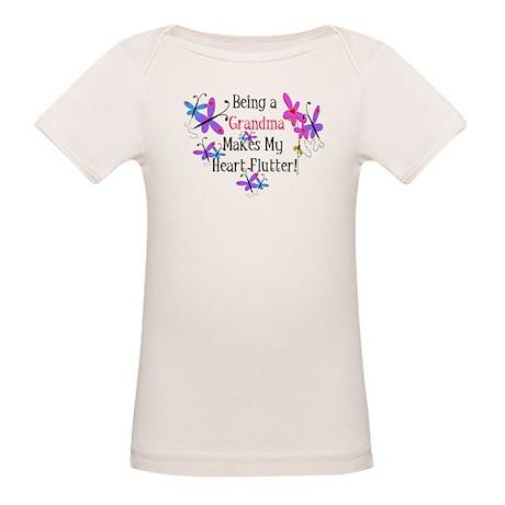 Grandma Heart Flutter Organic Baby T-Shirt