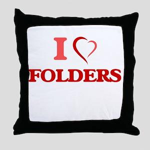 I love Folders Throw Pillow